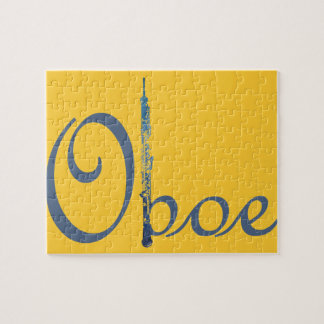 Oboe Script Jigsaw Puzzle