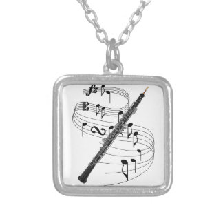 Oboe Silver Plated Necklace