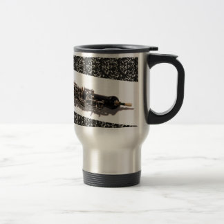 Oboe with Shadow Stainless Steel Travel Mug