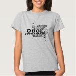 Oboe Word Cloud Black Text Tee Shirts