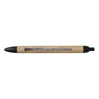 Oboes on Wood Effect Black Ink Pen