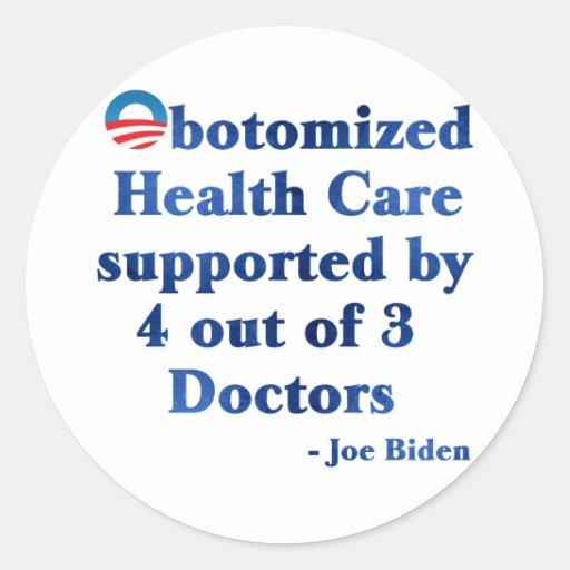 Obotomized Healthcare Round Sticker
