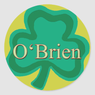 O'Brien Family Round Sticker