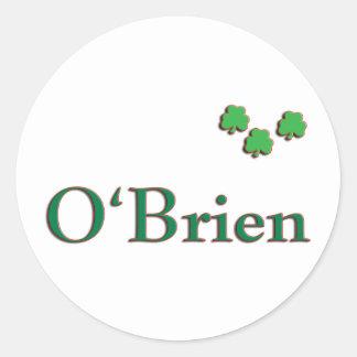 O'Brien Family Round Stickers