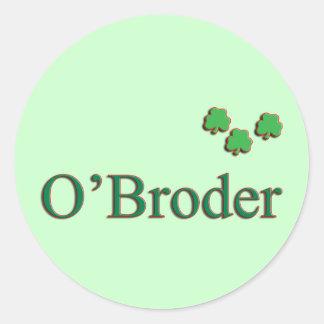 O'Broder Family Round Sticker
