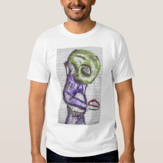 observation green alien t-shirt