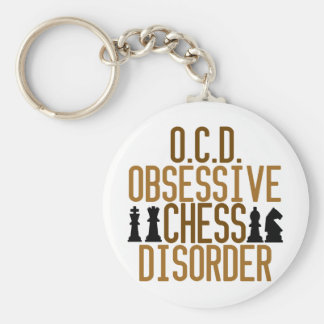 Obsessed with Chess Basic Round Button Key Ring