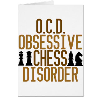 Obsessed with Chess Greeting Card