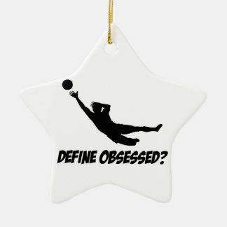 Obsessed with goalkeep christmas ornament