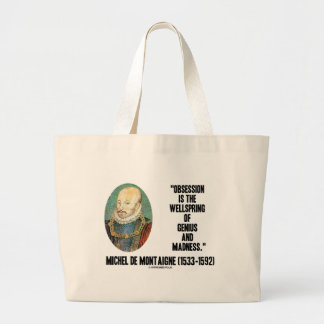 Obsession Wellspring Genius Madness de Montaigne Jumbo Tote Bag