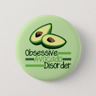 Obsessive Avocado Disorder Cool Green 6 Cm Round Badge