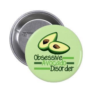 Obsessive Avocado Disorder Cool Green 6 Cm Round Badge