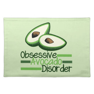 Obsessive Avocado Disorder Cool Green Placemat