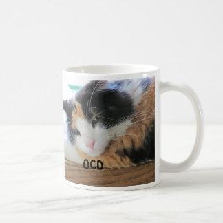 Obsessive calico disorder basic white mug