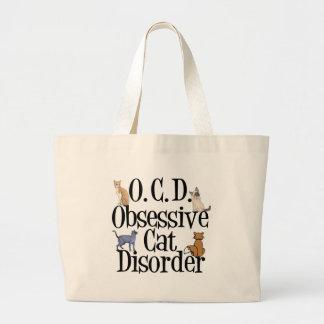 Obsessive Cat Disorder Jumbo Tote Bag