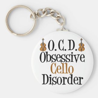 Obsessive Cello Disorder Basic Round Button Key Ring