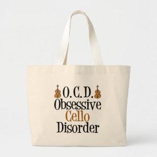 Obsessive Cello Disorder Jumbo Tote Bag