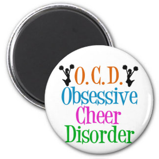 Obsessive Cheer Disorder 6 Cm Round Magnet