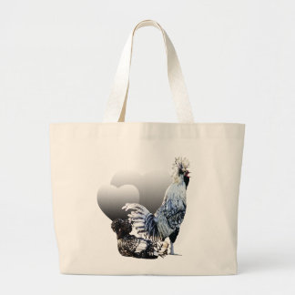 Obsessive Chicken Disorder: Polish Crested Jumbo Tote Bag