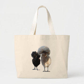Obsessive Chicken Disorder: Polish Crested Jumbo Tote Bag