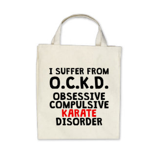 Obsessive Compulsive Karate Disorder Canvas Bags
