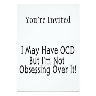 Obsessive Compulsive Obsession 5x7 Paper Invitation Card
