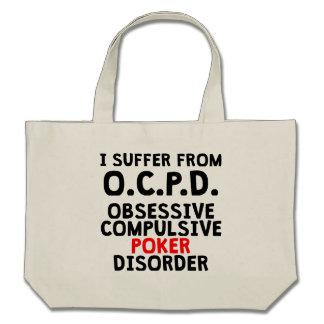 Obsessive Compulsive Poker Disorder Tote Bags