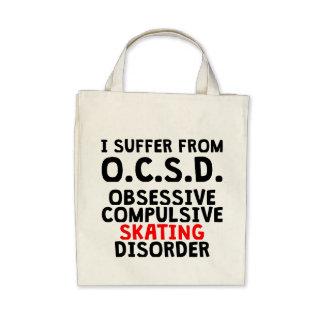 Obsessive Compulsive Skating Disorder Canvas Bags