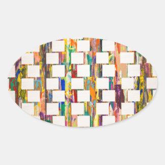 Obsessive Compulsive Zipper Oval Sticker