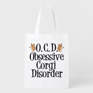 Obsessive Corgi Disorder Reusable Grocery Bag