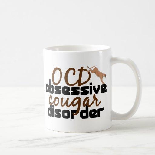Obsessive Cougar Disorder Basic White Mug