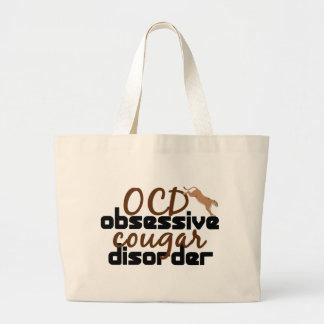 Obsessive Cougar Disorder Jumbo Tote Bag