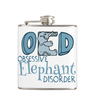 Obsessive Elephant Disorder Hip Flask