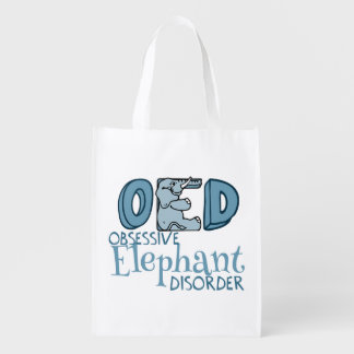 Obsessive Elephant Disorder Reusable Grocery Bag