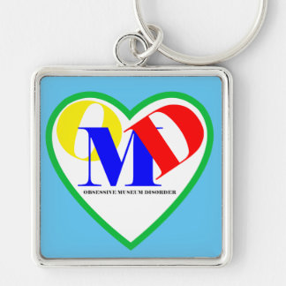 """Obsessive Museum Disorder Large (2.00"""") Keychain"""