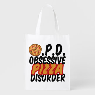 Obsessive Pizza Disorder Reusable Grocery Bag