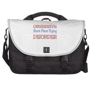Obsessive Stunt Plane Flying Disorder Laptop Commuter Bag