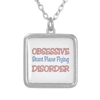 Obsessive Stunt Plane Flying Disorder Necklace