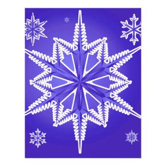 OBSF OCEAN BLUE WINTER SNOWFLAKE WINTER BACKGROUND 21.5 CM X 28 CM FLYER