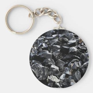 Obsidian Basic Round Button Key Ring