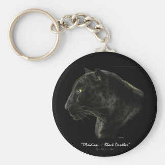 """OBSIDIAN, BLACK PANTHER"" Key-chain Key Ring"