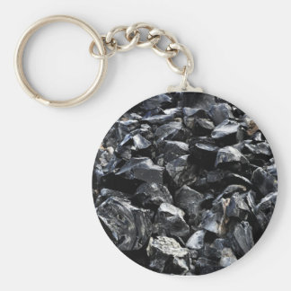 Obsidian Key Ring
