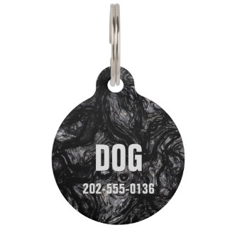 Obsidian Pet Name Tag