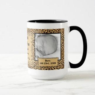 OBSOLETE: Grandma | New Baby Cheetah Photo Mug