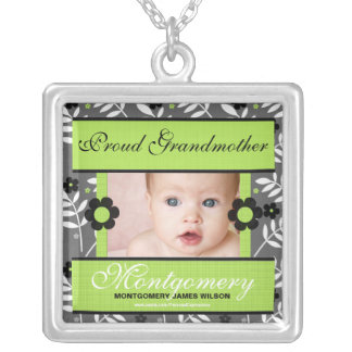 OBSOLETE: Proud Grandmother Personalized Photo Silver Plated Necklace