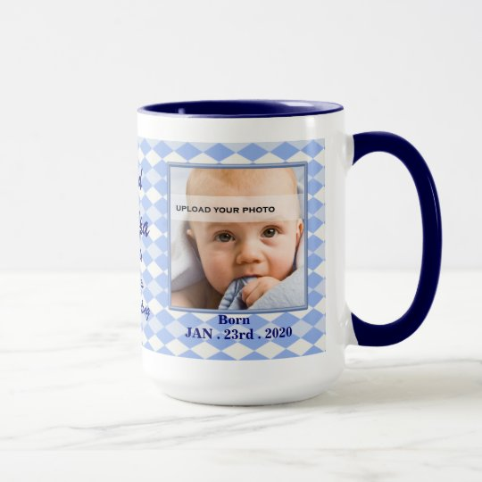OBSOLETE: Proud New Grandpa Baby Photo Mug