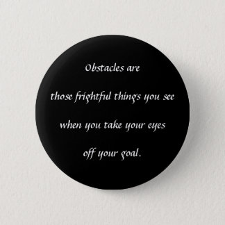 Obstacles 6 Cm Round Badge
