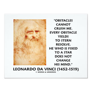 Obstacles Cannot Crush Me Fixed To A Star Quote 11 Cm X 14 Cm Invitation Card