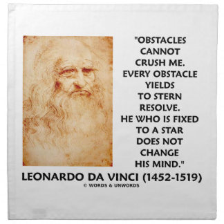 Obstacles Cannot Crush Me Fixed To A Star Quote Printed Napkin