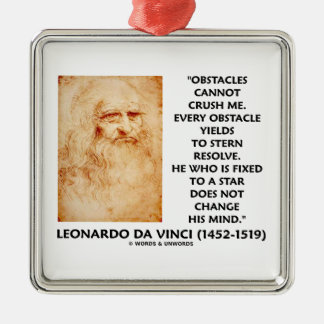 Obstacles Cannot Crush Me Fixed To A Star Quote Christmas Tree Ornament